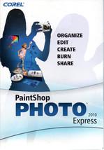 Corel Paintshop Photo Express 2010 Photo Editin... - $9.95