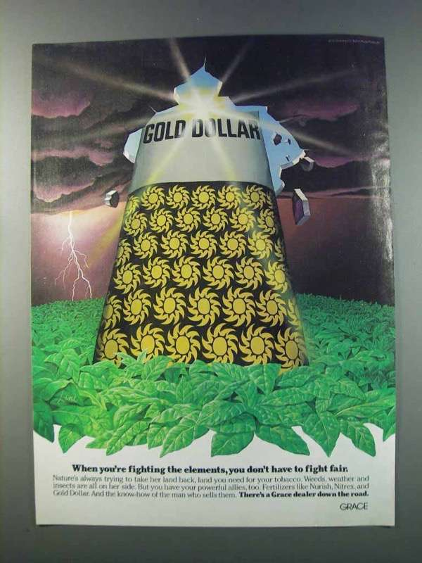Primary image for 1981 Grace Gold Dollar Fertilizer Ad - Don't Fight Fair