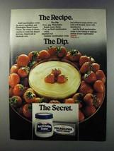 1981 Kraft Marshmallow Crme & Cream Cheese Ad - $14.99