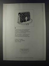 1981 Louis Vuitton Cartouchiere Handbag Ad - $14.99