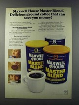 1981 Maxwell House Master Blend Coffee Ad - Delicious - $14.99