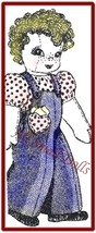 Vintage Doll Pattern Wearing Overalls - $5.99