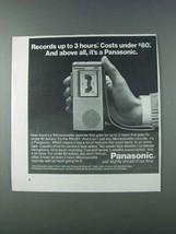 1981 Panasonic RN-001 Microcassette Recorder Ad - $14.99