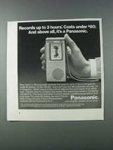 1981 Panasonic RN-001 Microcassette Recorder Ad - 3 Hours - $14.99