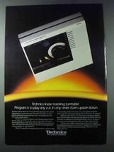 1981 Panasonic Technics SL-15 Turntable Ad - $14.99