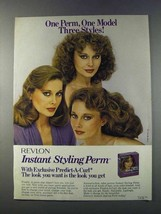 1981 Revlon Instant Styling Perm Ad - Three Styles - $14.99