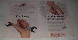 1981 Revlon Flawless 10 and Nail Starter Kit Ad - $14.99