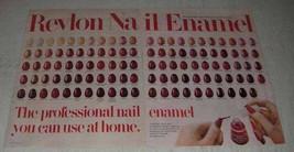 1981 Revlon Super Lustrous Crme Nail Enamel Ad - $14.99