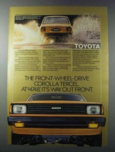 1981 Toyota Corolla Tercel Ad - Way Out Front - $14.99