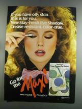 1982 Max Factor Stay-Fresh Eye Shadow Ad - $14.99
