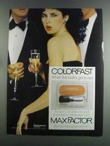 1982 Max Factor Colorfast Long-Lasting Blush Ad - $14.99