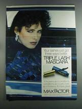 1982 Max Factor Triple Lash Mascara Ad - Got Better - $14.99