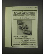 1910 Canton Acme Nestable Corrugated Culverts Ad - $14.99