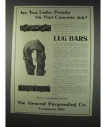 1910 General Fireproofing Co. Lug Bars Ad - Penalty - $14.99