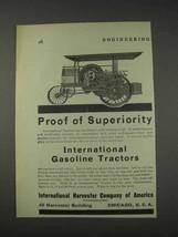 1910 International Harvester Gasoline Tractors Ad - $14.99