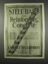 1913 Calumet Steel Company Ad - Reinforcing Concrete - $14.99