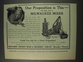 1910 Milwaukee Concrete Mixer Steamer Ad - $14.99