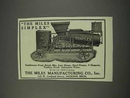 1910 Miles Simplex Ad - $14.99