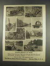 1913 Marion Steam Shovels Ad - At Work - $14.99