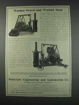 1910 Municipal Eng. Chicago Improved Cube Mixer Ad - Washed Gravel - $14.99