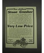 1913 New Holland Stone Crusher Ad - $14.99
