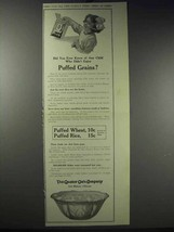 1913 Quaker Puffed Wheat & Rice Ad - Did You Ever Know - $14.99