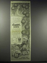 1914 Campbell's Tomato Soup Ad - Under Love-Apple Tree - $14.99