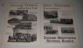1929 Dodge School Buses Ad - Carrying Children Safely - $14.99