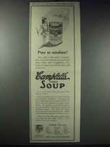 1913 Campbell's Tomato Soup Ad - Pure as Sunshine - $14.99