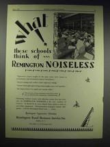 1929 Remington Noiseless Typewriter Ad - What Schools - $14.99