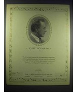 1937 The Curtis Institute of Music Ad - Josef Hofmann - $14.99