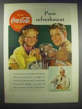 1938 Coca-Cola Soda Ad - Pure Refreshment - $14.99