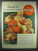 1938 Coca-Cola Soda Ad - Santa - Pause That Refreshes - £10.90 GBP