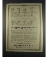 1913 The American Well Works Ad - Flexibility - $14.99
