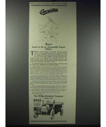 1913 Willys-Overland Cars Ad - Be Automobile Expert - $14.99