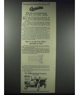 1913 Willys-Overland Cars Ad - Family Enjoy Vacation - $14.99