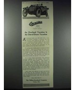 1913 Willys-Overland Cars Ad - Out-of-Doors Vacation - $14.99