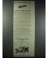 1913 Willys-Overland Cars Ad - Practical Investment - $14.99