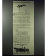 1913 Willys-Overland Model 69-T Car Ad - $14.99