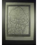 1918 Road Map of Maine - Principal Motor Routes - $14.99