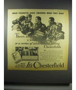 1942 Chesterfield Cigarettes Ad - Gives What They Want - $14.99