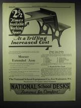 1929 National School Equipment School Desk Ad - $14.99