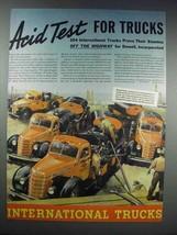 1938 International Harvester Trucks Ad - Acid Test - $14.99