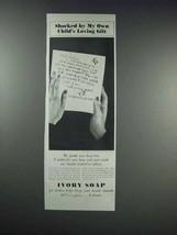 1938 Ivory Soap Ad - My Child's Loving Gift - $14.99