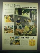 1938 Lipton's Tea Ad - Queen Has Nothing on Mrs. Jones - $14.99