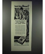 1938 Old Gold Cigarettes Ad - Hard Day Ahead? - $14.99