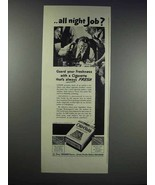 1938 Old Gold Cigarettes Ad - All Night Job? - $14.99