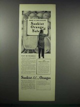 1938 Sunkist Valencia Oranges Ad - Today At Dealer's - $14.99