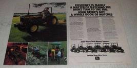 1982 2-pg John Deere 650 750 850 950 1050 1250 Tractors Ad - $14.99