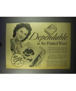 1943 Chesterfield Cigarettes Ad - Dependable - $14.99